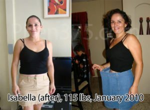 Before and after weight loss results using Phen375