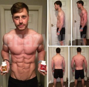 Bodybuilding beore and after pictures. Results obtained using legal steroids.