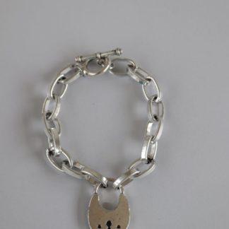 Chain Bracelet With Padlock